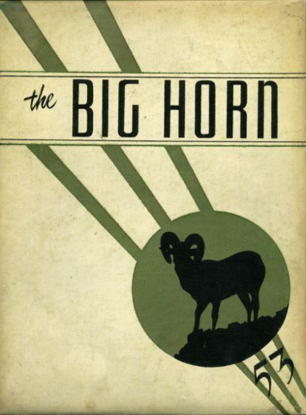1953 Hardin High School Yearbook Cover