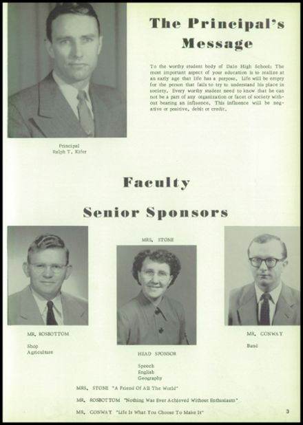 1956 Dale High School Yearbook Page 9