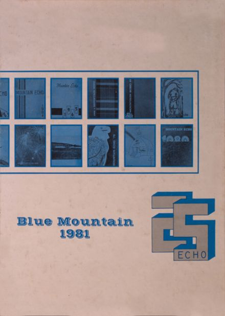1981 Blue Mountain High School Yearbook Cover