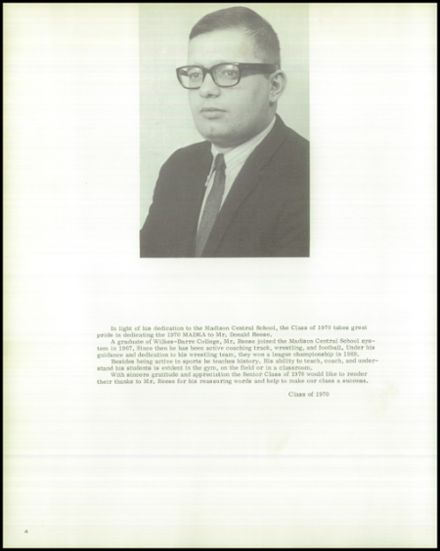 1970 Madison Central School Yearbook Page 8