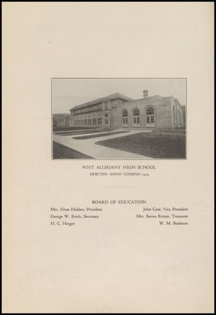 1928 Port Allegany High School Yearbook Page 6