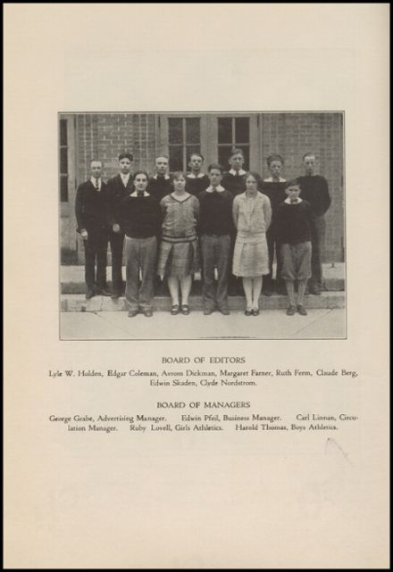 1928 Port Allegany High School Yearbook Page 8