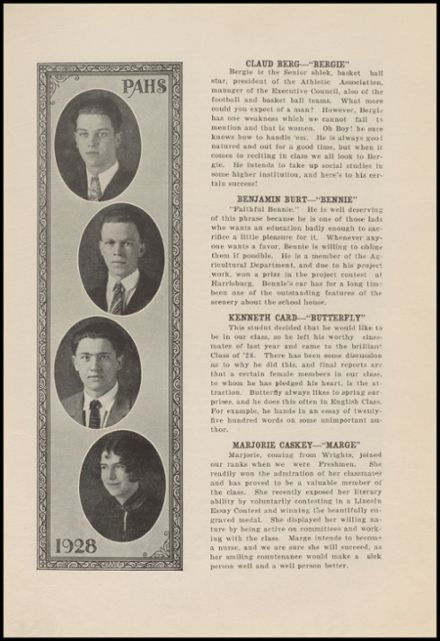 1928 Port Allegany High School Yearbook Page 9