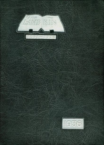 1936 Ft. Collins High School Yearbook Cover