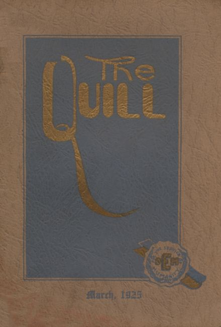 1925 East High School Yearbook Cover