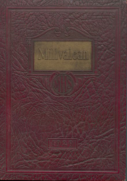 1929 Millvale High School Yearbook Cover