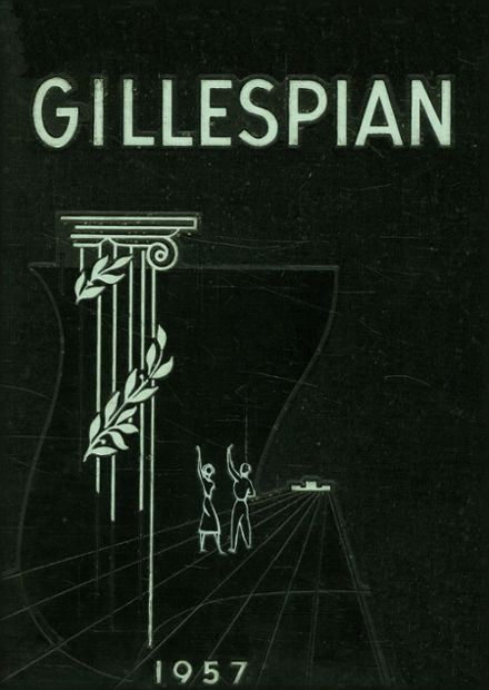 1957 Gillespie Community High School Yearbook Cover