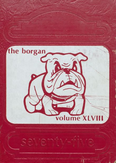 1975 Borger High School Yearbook Cover