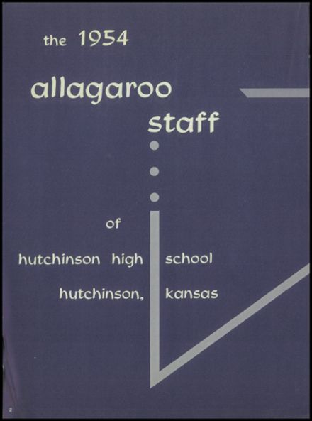 1954 Hutchinson High School Yearbook Page 6