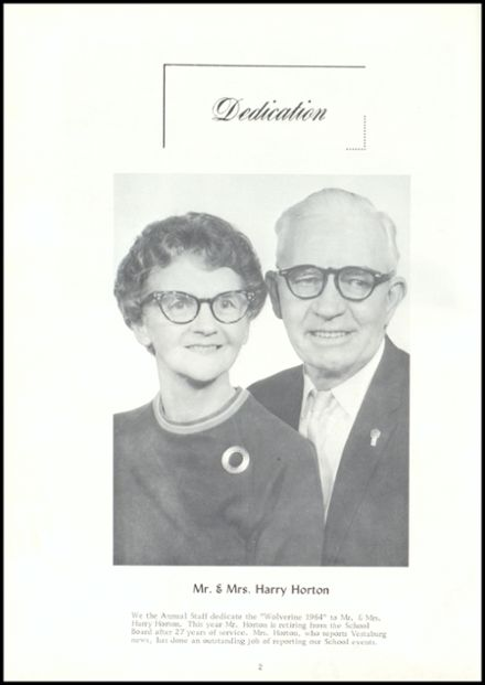 1964 Vestaburg High School Yearbook Page 6