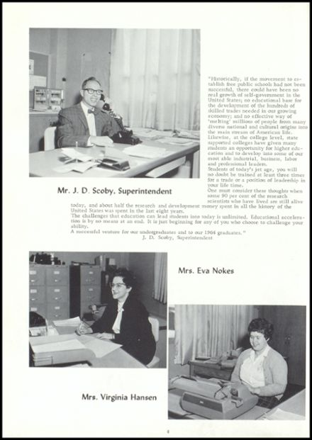 1964 Vestaburg High School Yearbook Page 8