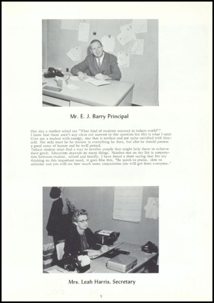 1964 Vestaburg High School Yearbook Page 9
