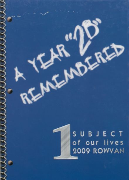 2009 ROWVA High School Yearbook Cover