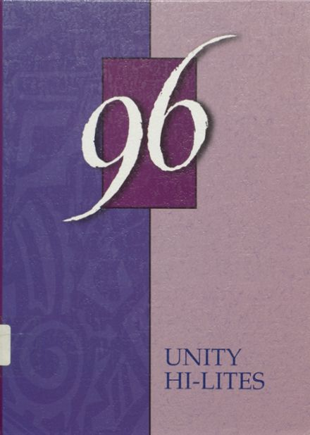 1996 Unity High School Yearbook Cover