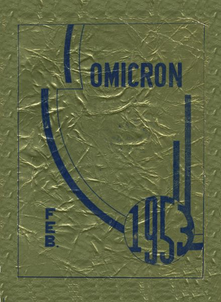 1953 Oliver High School Yearbook Cover