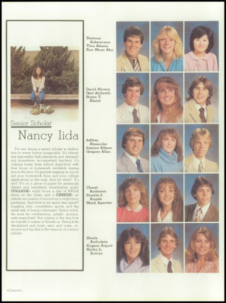 1982 West High School Yearbook Page 8