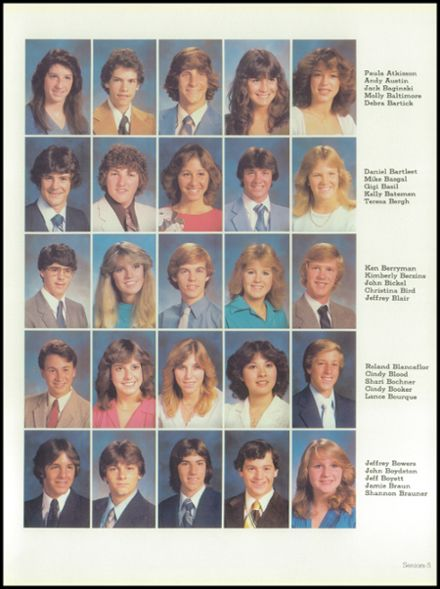 1982 West High School Yearbook Page 9