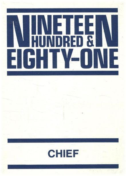 1981 Southwest Indian High School Yearbook Cover