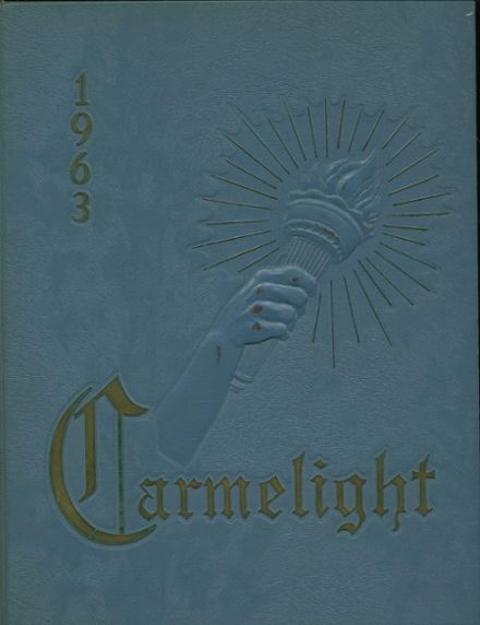 1963 Our Lady of Mt. Carmel High School Yearbook Cover