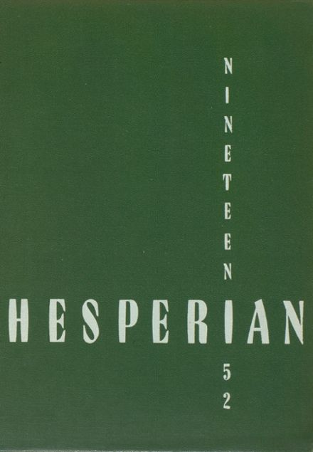 1952 West High School Yearbook Cover