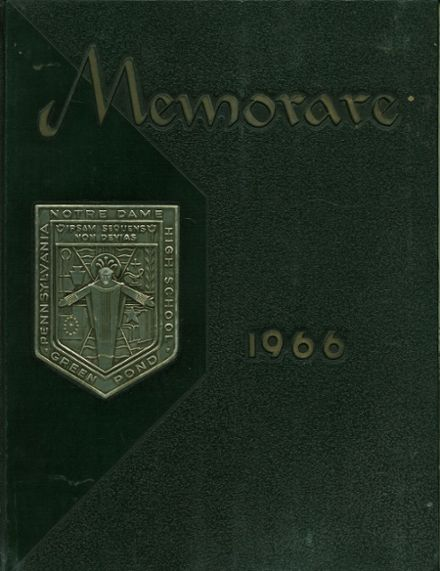 1966 Notre Dame High School Yearbook Cover