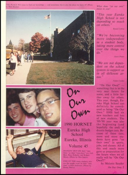 1990 Eureka High School Yearbook Page 5