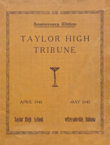 1942 Taylor High School Yearbook Cover