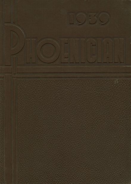1939 Phoenix Union High School Yearbook Cover