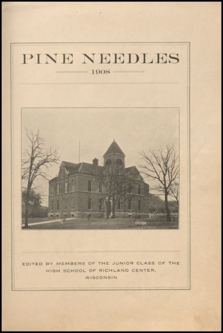 1908 Richland Center High School Yearbook Page 5