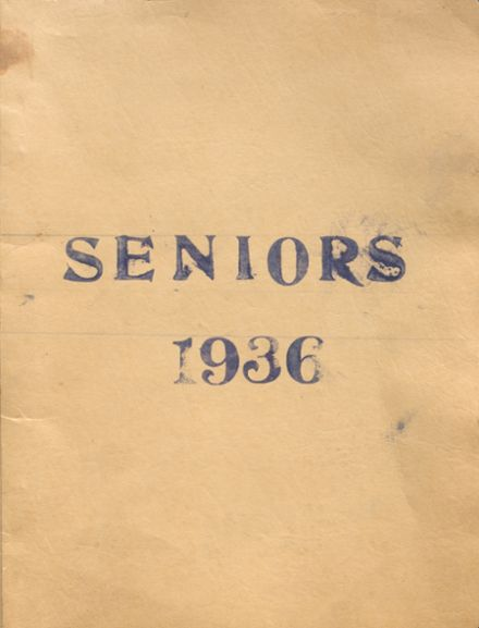 1936 White Cloud High School Yearbook Cover