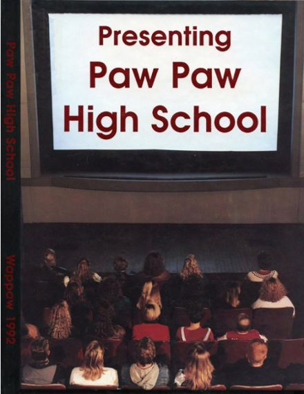 1992 Paw Paw High School Yearbook Cover