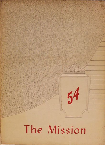 1954 Ripon High School Yearbook Cover