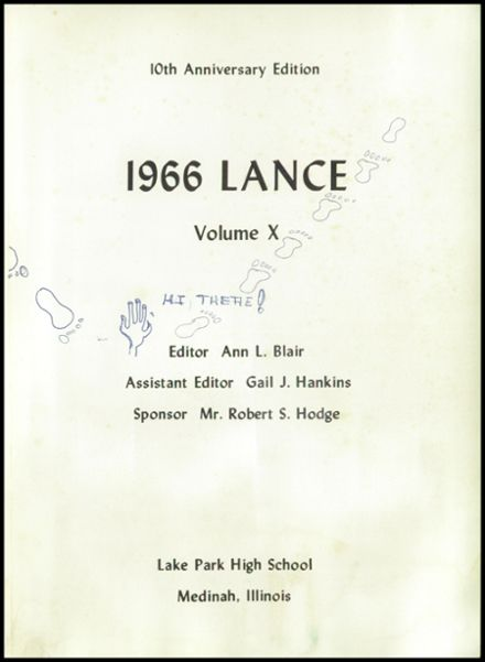 1966 Lake Park High School Yearbook Page 5
