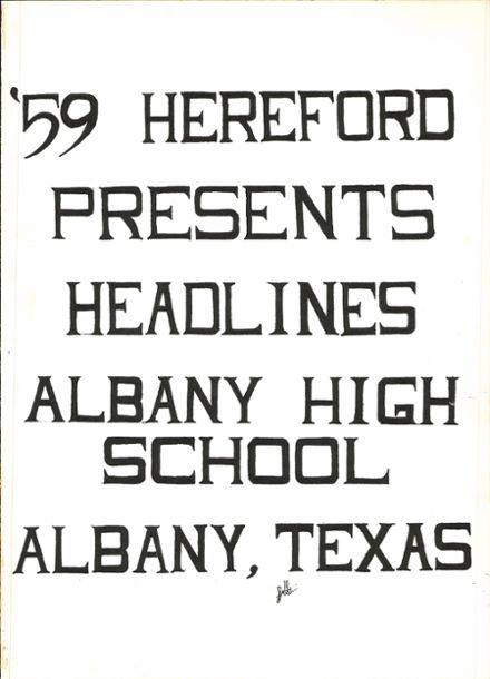 1959 Albany High School Yearbook Page 5