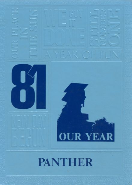 1981 Rugby High School Yearbook Cover