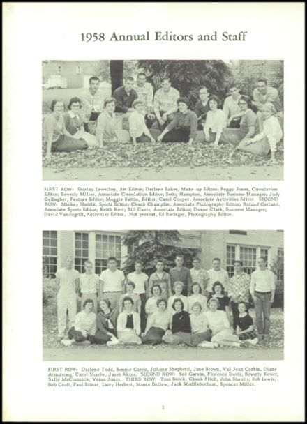 1958 Mineral Ridge High School Yearbook Page 6