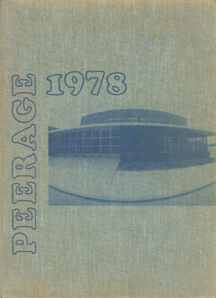 1978 Princess Anne High School Yearbook Cover