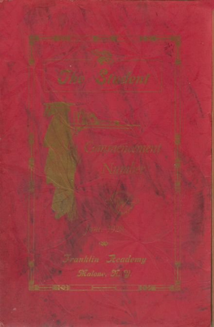 1928 Franklin Academy Yearbook Cover
