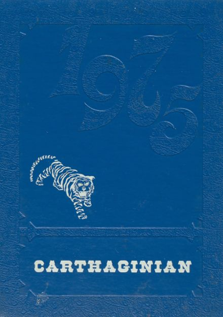 1975 Carthage High School Yearbook Cover