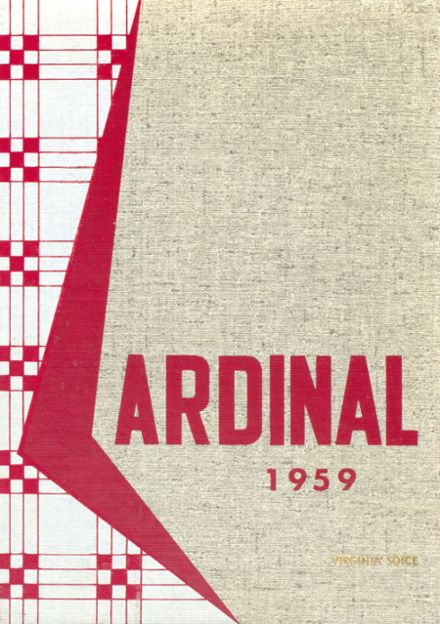 1959 Marshall High School Yearbook Cover