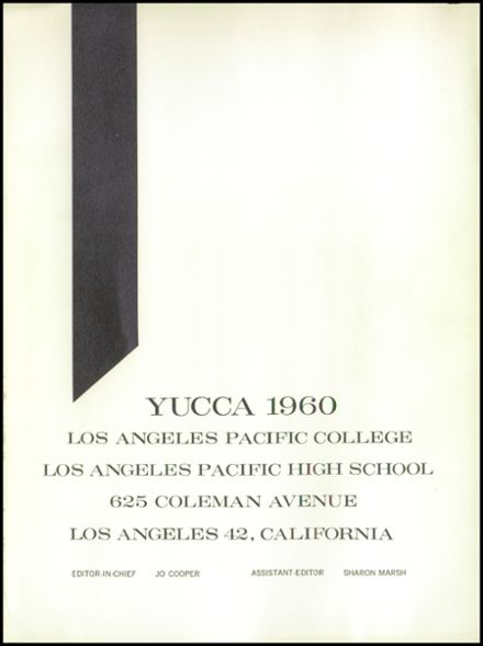1960 Los Angeles Pacific High School Yearbook Page 5
