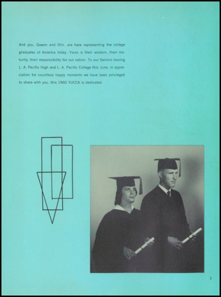 1960 Los Angeles Pacific High School Yearbook Page 7
