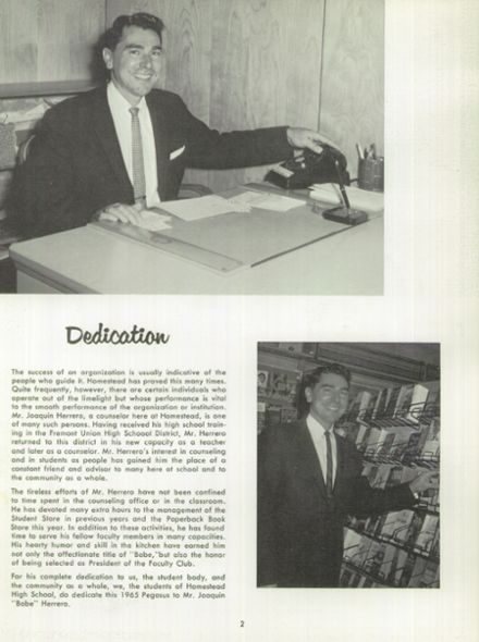 1965 Homestead High School Yearbook Page 6