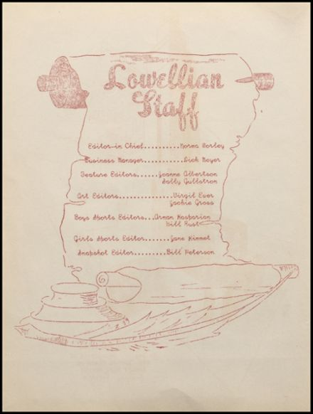 1946 Lowell High School Yearbook Page 6