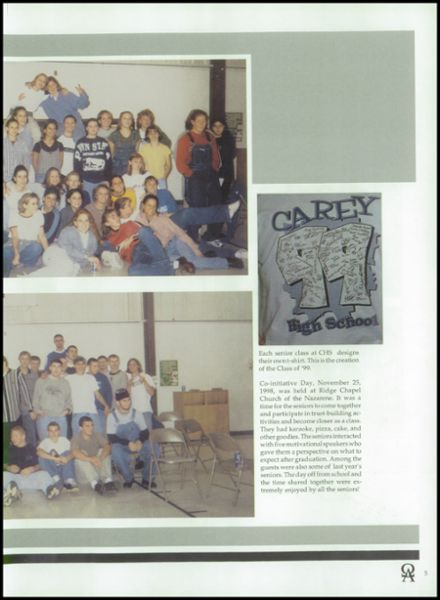 1999 Carey High School Yearbook Page 9