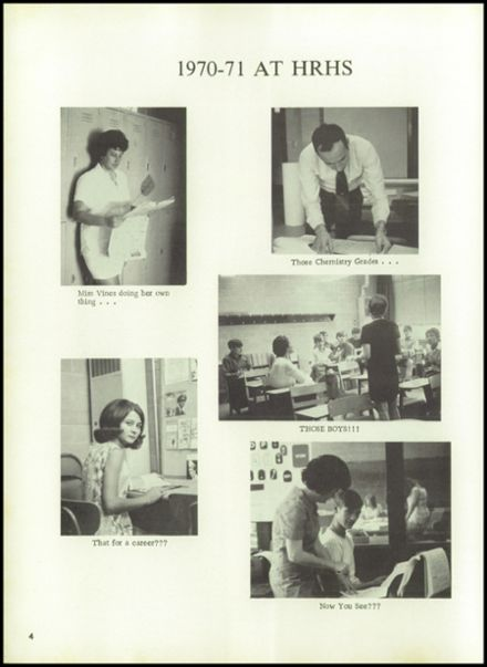 1971 Holly Ridge High School Yearbook Page 8