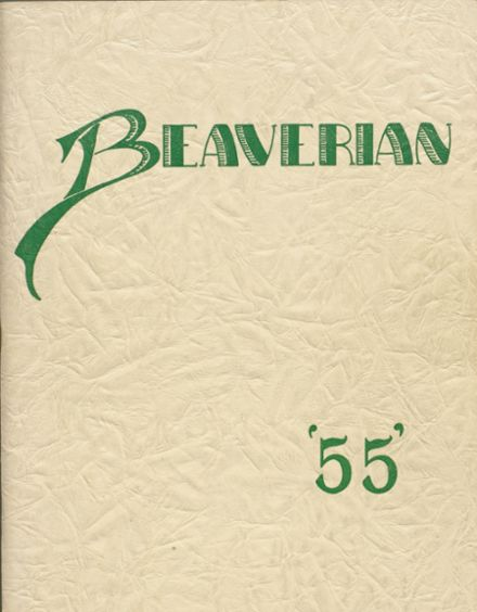 1955 Beaver River Central High School Yearbook Cover