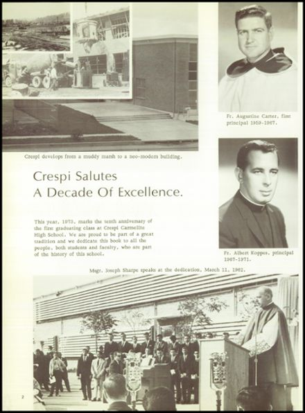 1973 Crespi Carmelite High School Yearbook Page 6