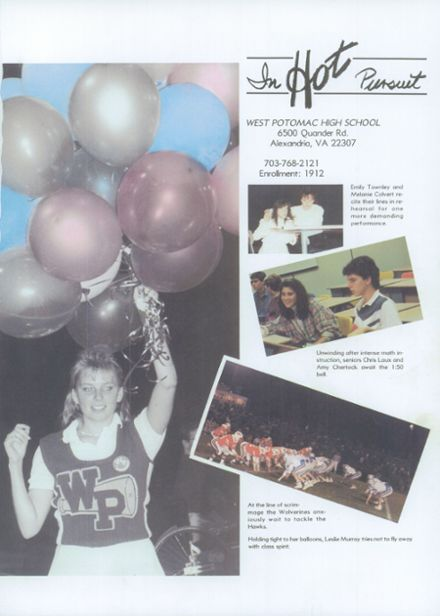 1988 West Potomac High School Yearbook Page 5