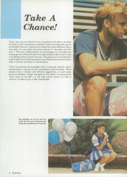 1988 West Potomac High School Yearbook Page 8